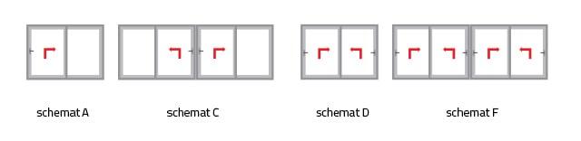 aluplast hst85mm zestawienie schematow konstrukcji - Okna