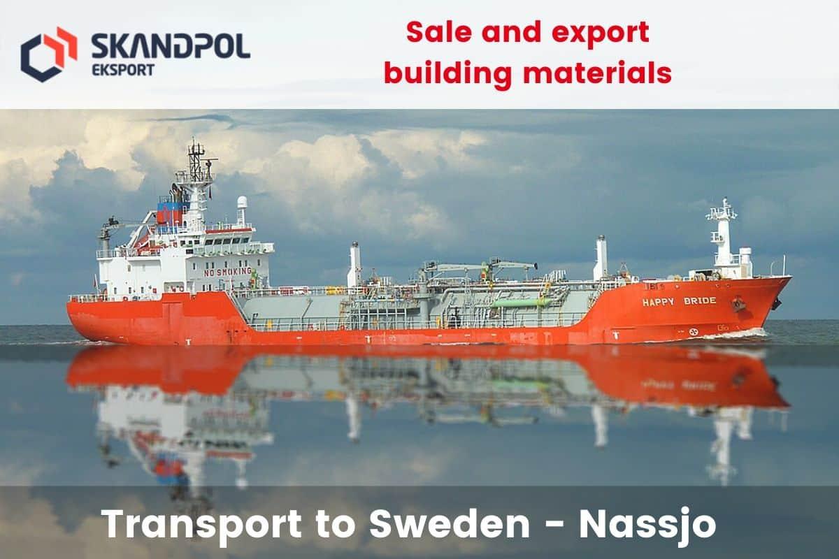 Sprzedaż i eksport materiałów budowlanych 1 - Transport to Sweden - town Nassjo