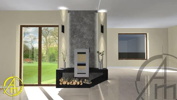 projekt indywidualny klienta2 705x397 - Ekologiczne kominki do domu - nowość w ofercie