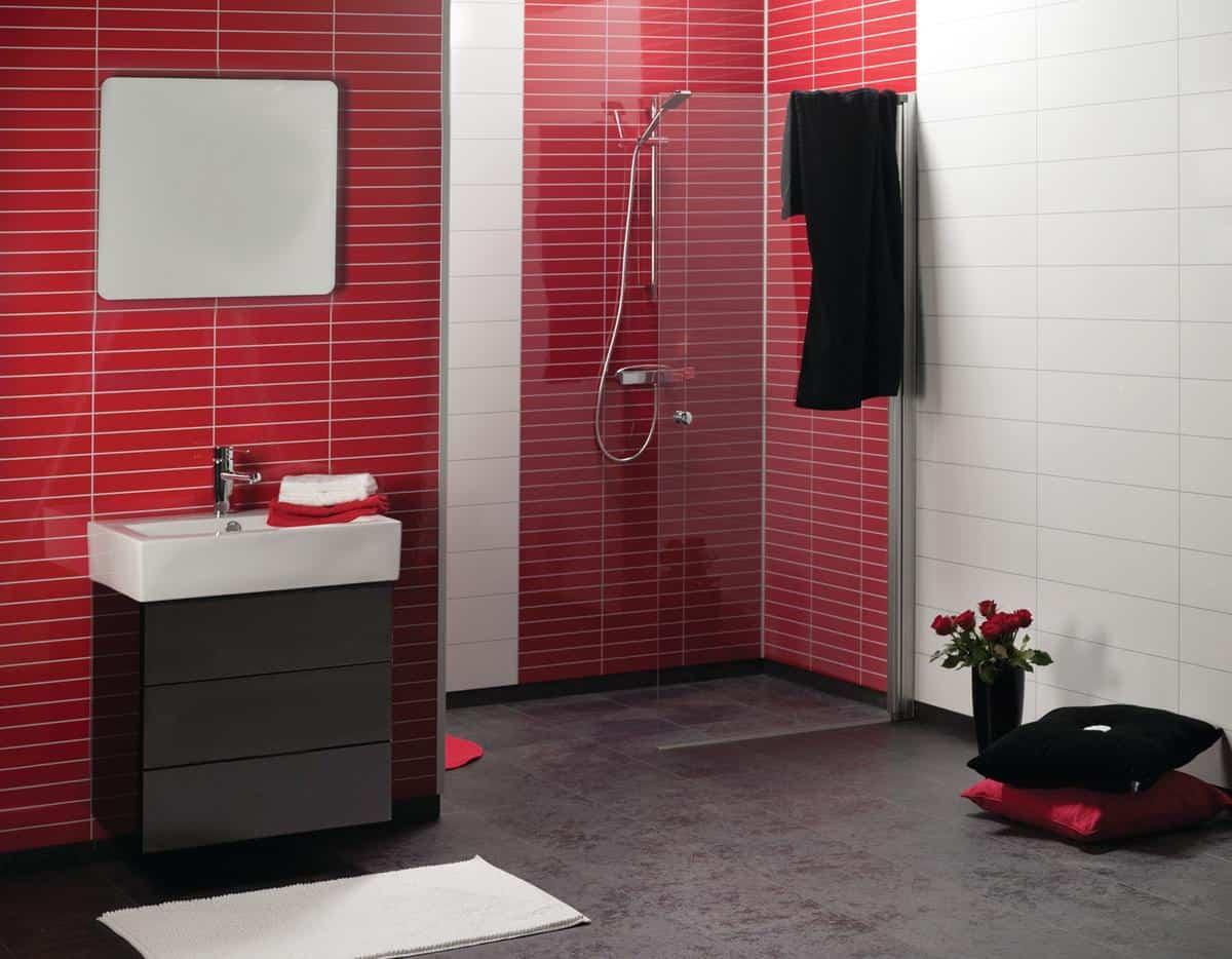 Fibo Trespo 2101 HG Red Tile F03 og 3091 HG White Tile F24 1200px - Fibo - panele ścienne do łazienki