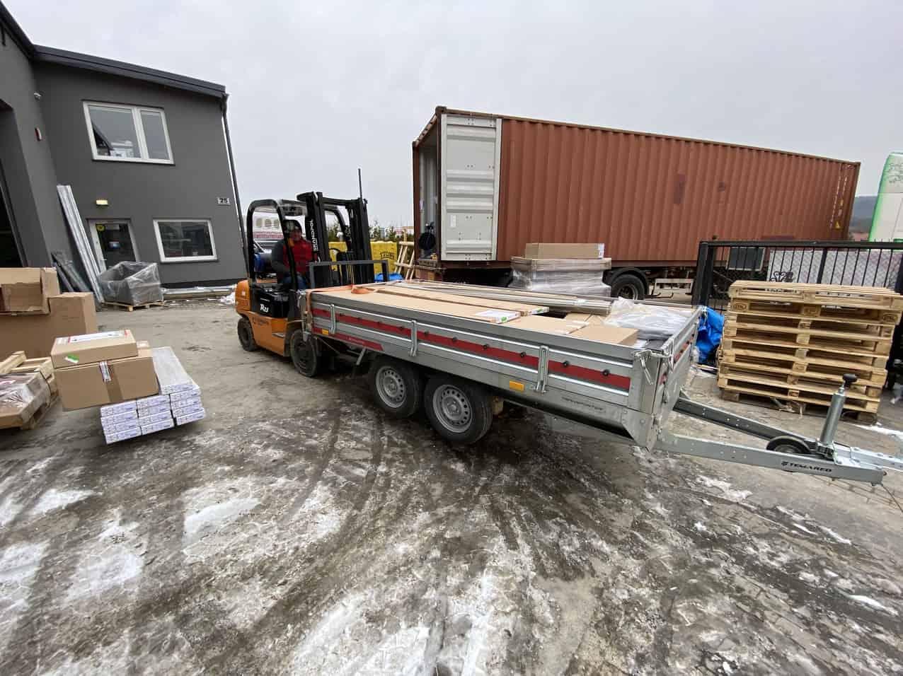 9 - Transport of building materials to Reykjavik
