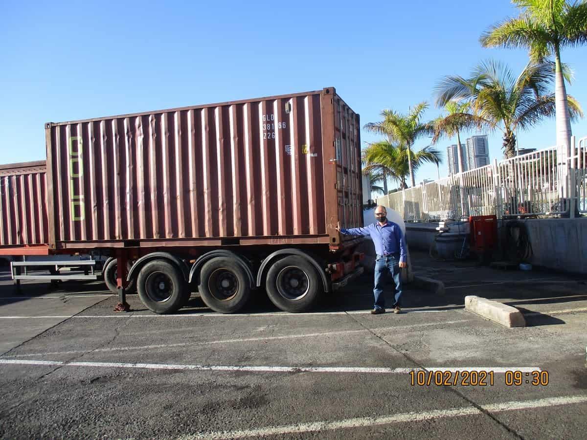 przy kontenerze Kopiowanie - Eksport na Teneryfę